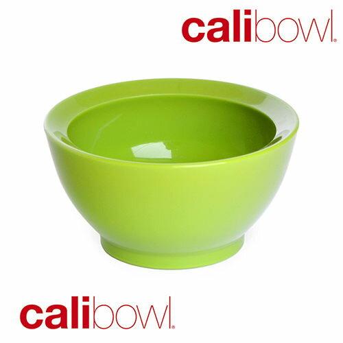 【美國 CaliBowl】專利防漏防滑幼兒學習碗(單入無蓋) 8oz -綠色【紫貝殼】 - 限時優惠好康折扣