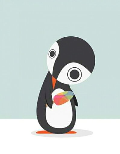 Pingu Loves Ice Cream Rolled Canvas Art - Volkan Dalyan (11 x 14) 81e41a9df55d77623a07ccc84de092ab