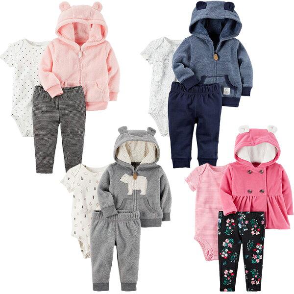 YODEE 優迪嚴選:▶︎現貨+免運◀︎Carter's美國童裝三件組套裝《多款可選》