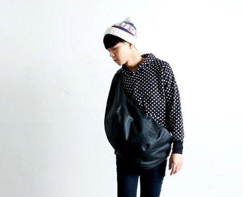 韓國 大款 加大 腰包 側背包 皮革 暗黑 書包 背包 男 ZNFGB NIKE