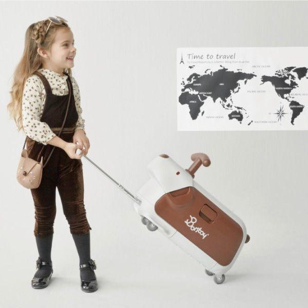 韓國 Bontoy Traveller 紅點設計美學騎乘行李箱(5款可選) 7