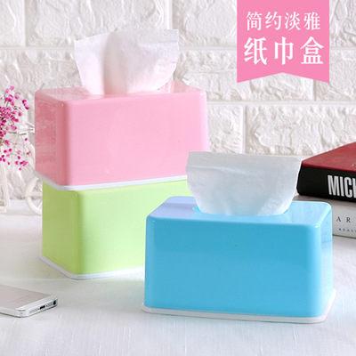 PS Mall 糖果色紙巾盒家用客廳茶几桌面抽紙盒【J008】 0