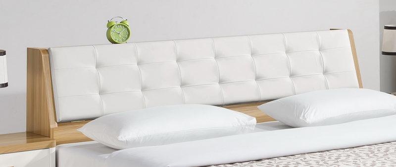 亞倫傢俱*安摩爾6尺雙人加大床架 (床頭箱款) 1