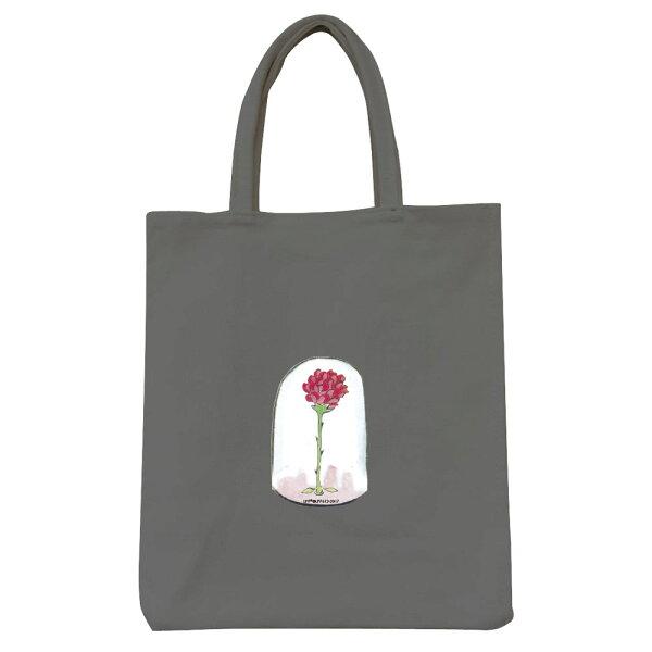 【小王子經典版】彩色野餐包-玻璃罩裡的玫瑰花(鐵灰)
