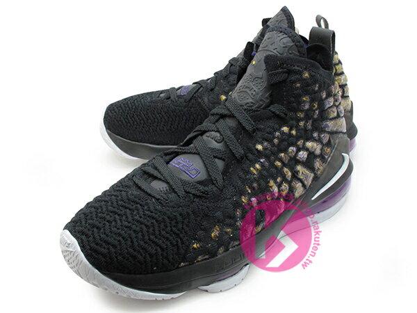 2019-2020 NBA 最新款 LeBRON JAMES 最新代言 NIKE LEBRON XVII GS 17 LAKERS 大童鞋 女鞋 黑紫黃 FLYKNIT 飛織鞋面 前 ZOOM AIR 後 MAX 氣墊 小皇帝 雷霸龍 KING LAKERS 頂級科技 籃球鞋 (BQ5594-004) 1019 1