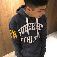 Superdry極度乾燥-男T恤推薦到美國百分百【全新真品】Superdry 極度乾燥 帽T 連帽 長袖 刷毛 經典款 復古 S號 礦藍色 F877就在美國百分百推薦Superdry極度乾燥-男T恤