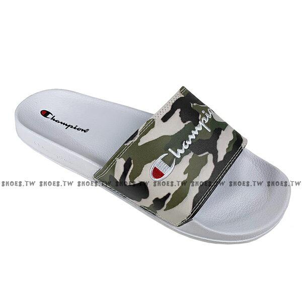 Shoestw【913250270】CHAMPION 拖鞋 運動拖鞋 綠白迷彩 男女尺寸都有 1