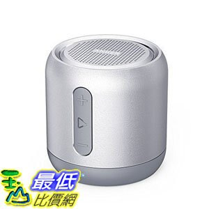[106美國直購] Anker SoundCore AK-A31011A1 銀色 喇叭 mini speaker, micro SD card & FM radio compatible