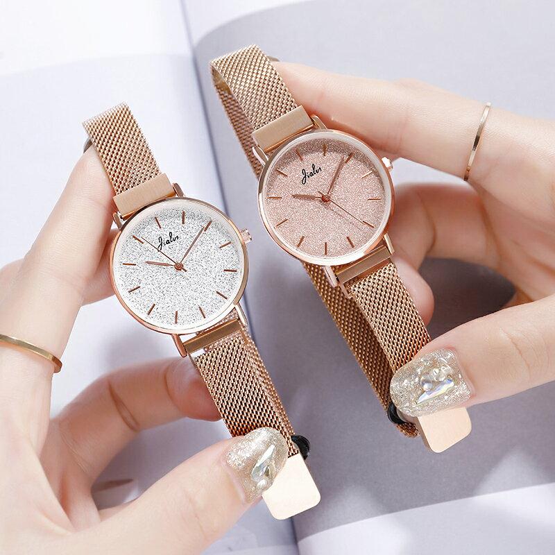 手錶女 2020年新款正韓時尚女錶簡約ins風氣質滿天星皮帶防水中學生手錶『CM396650』