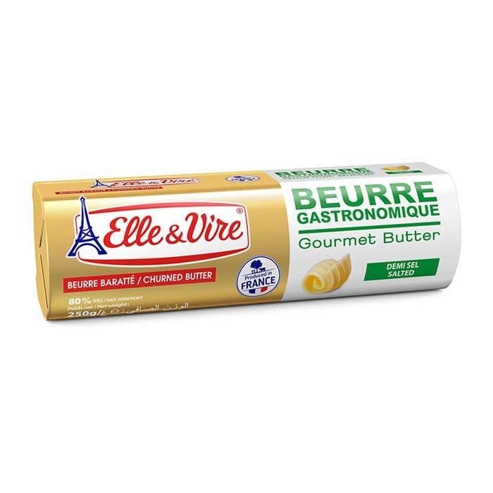 法國Elle&Vire 愛樂薇有鹽發酵奶油塊 250g/塊