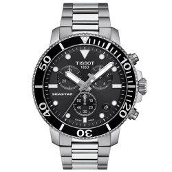 TISSOT 天梭表 T1204171105100 海洋之星潛水腕錶/黑 45.5mm