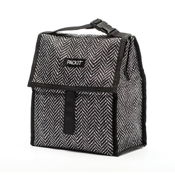 ★衛立兒生活館★美國 Packit冰袋 行動式摺疊冰箱(M)-黑白幾何