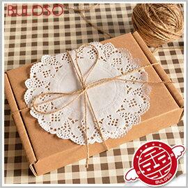 《不囉唆》大蕾絲牛皮紙色禮盒/禮物盒(大)禮品包裝 包材 婚禮小物 聖誕節交換禮物【A289139】
