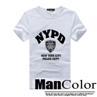 ★組合-任2件288元★ManStyle潮流嚴選【R9B0173】韓系美式NYPD運動風圖騰印花短袖T恤上衣男