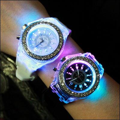 任2件455元-ManStyle潮流嚴選夜光發光個性原宿韓版時尚果凍錶【R9S0410】