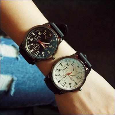 男錶女錶情侶ManStyle潮流 潮牌 百搭 大錶盤手錶~09S0449~