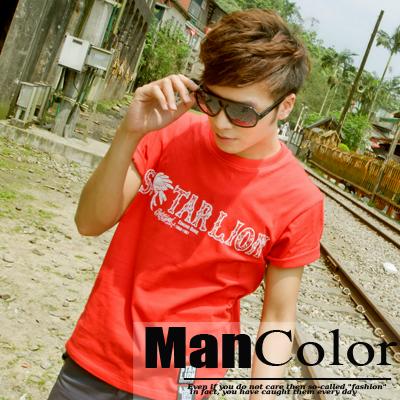 ManStyle:☆ManStyle☆【01B5758】骷髏部落長老塗鴉短袖上衣T恤男。日系潮流街頭風休閒風
