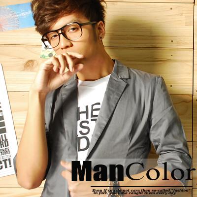 ManStyle潮流嚴選【A1F0840】(秒殺特價款)韓版時尚百搭七分袖西裝外套-3色 羅志祥