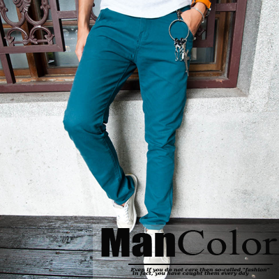 ManStyle【A1G1321】韓版素面百搭可當西裝褲窄版黑色系休閒長褲-1色