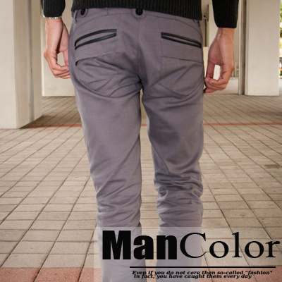 ~ManStyle~~A1G1341~口袋描邊修身休閒褲西裝褲窄管煙管日韓系日系休閒風 雅