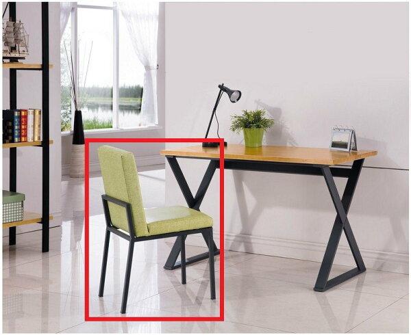 【石川家居】YE-A512-05亞森黑腳亞麻皮餐椅(綠皮)(單張)(不含餐桌及其他商品)台北到高雄搭配車趟免運