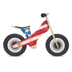 Kinderfeets 美國木製平衡滑步車/學步車-英雄聯盟系列 (美國隊長)