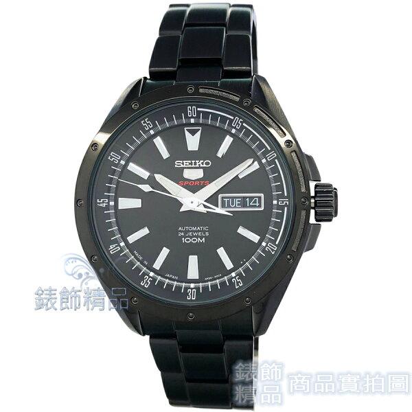 【錶飾精品】SEIKO精工SRP157J1日本製手自動機械夜光鍍黑鋼帶男錶全新原廠正品