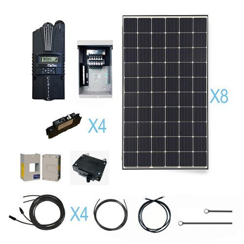Renogy-2400-Watt-Monocrystalline-Solar-Cabin-Kit-for-Off-Grid-Solar-System-with-8-Pcs-of-300W-Panel-and-Midnite-MPPT-Controller