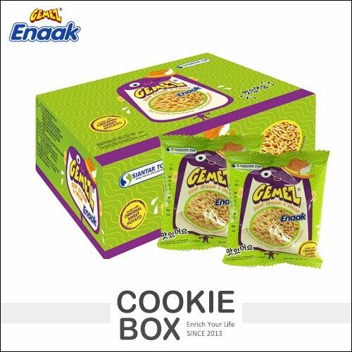 韓國Enaak奶油洋蔥小雞麵點心麵最新款雞汁麵科學麵(30包入盒裝)*餅乾盒子*