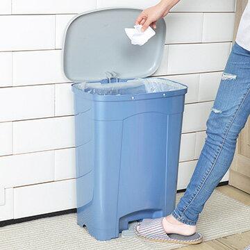 【nicegoods】KEYWAY吉利潔腳踏式垃圾桶40L (回收 分類 環保)
