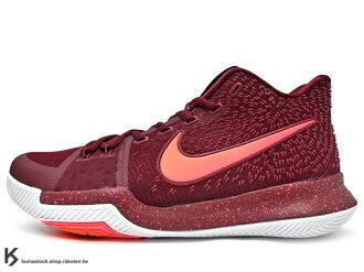 [28% OFF][27.5cm] 2017 Kyrie Irving 最新代言鞋款 NIKE KYRIE 3 III WARNING 紅粉紅 HYPERFUSE 鞋面後 ZOOM AIR 氣墊 UN..