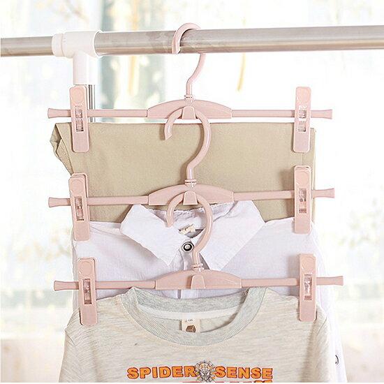 ♚MYCOLOR♚可疊加帶夾衣褲架褲夾衣櫃素雅帶夾子衣架收納絲巾居家高檔【P282】