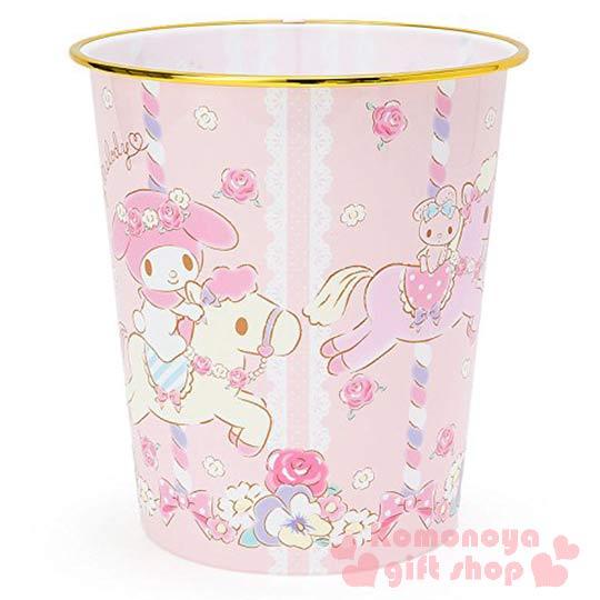 〔小禮堂〕美樂蒂 圓形垃圾桶~粉.朋友.旋轉木馬.玫瑰~美觀居家