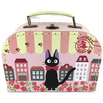 【真愛日本】16041700020縫線手提盒L-JIJI城市  魔女宅急便 黑貓 奇奇貓  收納箱 萬用箱 正品 限量 預購