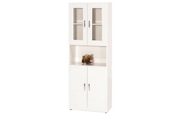 【石川家居】934-06白色書櫃(下附一片隔板)(CT-912)#訂製預購款式#環保塑鋼P無毒防霉易清潔