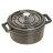 【法國Staub】圓形鑄鐵鍋 湯鍋 燉鍋 炒鍋 10cm 0.25L 石墨灰 法國製 1