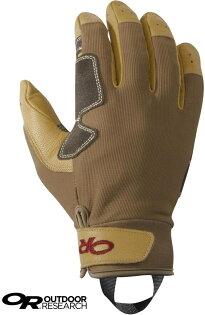 OutdoorResearch皮革工作手套垂降手套確保手套工程皮革手套DirectRoute264362褐色1200