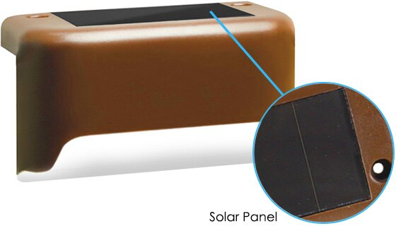 Solar Deck Lights - Two Set of Three 1