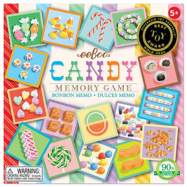 eeBoo 美國益智桌遊 學齡前記憶遊戲 – 糖果篇 Candy Square Memory Game