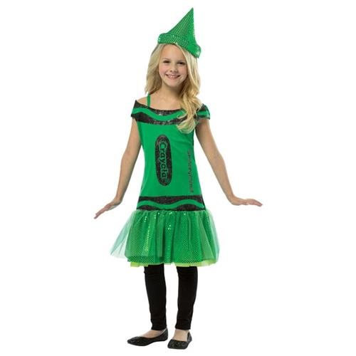 Kids Crayola  Dress - Green 7-10 0