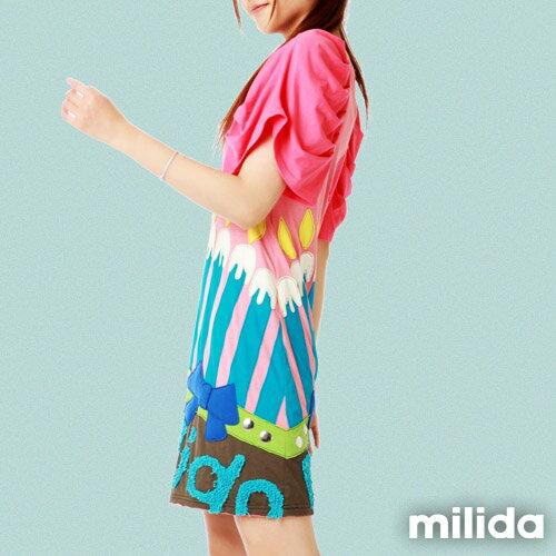 【Milida,全店七折免運】甜美公主袖超顯瘦洋裝 2