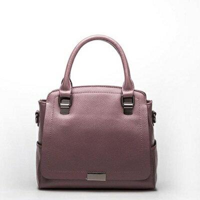 手提包真皮肩背包-簡約純色知性大方女包包4色73se17【獨家進口】【米蘭精品】