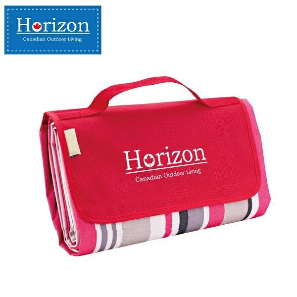 【淘氣寶寶】加拿大 天際線 Horizon 多 防潮沙灘野餐墊 加贈防水輕巧收納袋 180*145-摩登紅