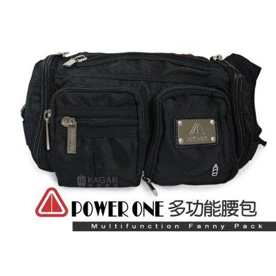 【加賀皮件】PowerOne 時尚 潮流 型男 多功能 腰包 側背包 肩背包 斜背包 ST716