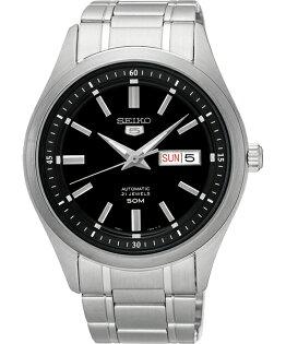 Seiko精工五號7S26-04M0D(SNKN89J1)簡約雙日曆腕錶黑面44mm