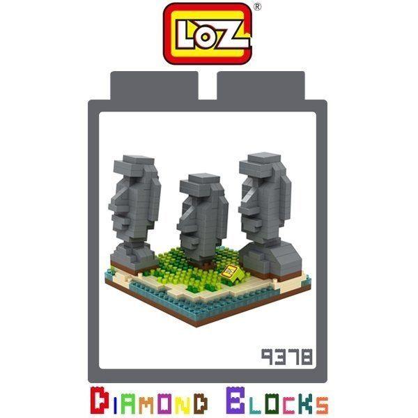 LOZ 迷你鑽石小積木 摩埃石像 復活節島石像~9378系列 樂高式 益智玩具 玩具  建