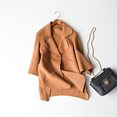 【米蘭秀】【奇珍館】:毛呢外套羊毛大衣-氣質時尚優雅大方女外套3色73op28【獨家進口】【米蘭精品】