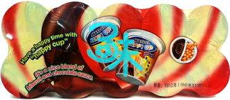 (馬來西亞) 日日旺 巧克力棒歡樂杯 1盒 150公克 (10杯入) 特價 46元【4712893943345】 (快樂杯 / 巧克力+棒餅 / HAPPY CUP)