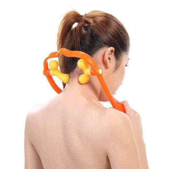 派樂 四點按壓可調式肩頸按摩器(1入) 肩部按摩 舒壓按摩器 頸椎按摩器 仿真人指壓按摩器