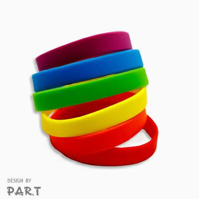 (PAR.T)彩虹商品-六彩矽膠手環-六色